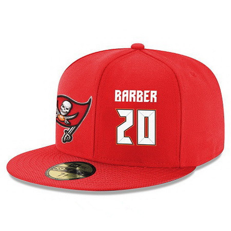 Tampa Bay Buccaneers #20 Ronde Barber Snapback Cap NFL Player Red with White Number Stitched Hat